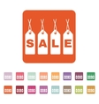 The label with an inscription sale icon Discount vector image