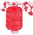 Chinese Lantern on tree vector image