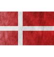 Danish grunge flag background vector image vector image