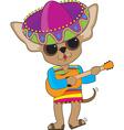 Chihuahua Guitar vector image vector image
