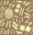 dark pasta seamless pattern vector image