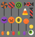 halloween candy flat design icon vector image