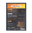 Resume template Cv creative background vector image