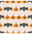 seamless pattern of bats and pumpkins vector image