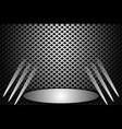 stage metallic vector image