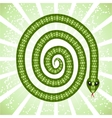 Cute snake symbol of 2013 year vector image vector image