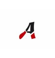 Abstract icon logo for letter A vector image