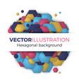 hexagonal abstract background vector image vector image