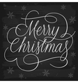 Merry Christmas greetings slogan on chalkboard vector image