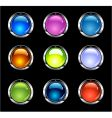 website shiny buttons vector image