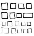 Set hand drawn square vector image