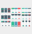 Collection of coloful pricing table design vector image