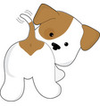 Cute Puppy Rear View vector image