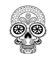 Hand drawn Skull in zentangle style tribal totem vector image