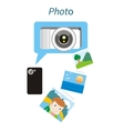 Photo Concept Flat Design Style vector image