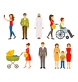 Set of different people vector image