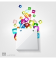 Shopping bag icon Application buttonSocial media vector image