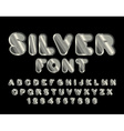 Silver font ABC of argentum Precious metal vector image