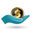 symbol of money in hand vector image
