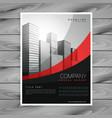 Wavy red and black company brochure design vector image