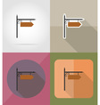 wooden board flat icons 12 vector image