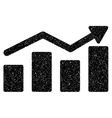 Bar Chart Trend Grainy Texture Icon vector image