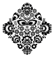 Folk embroidery with flowers - traditional polish vector image