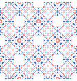 boho pattern blue red ethnic background vector image