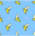 seamless pattern with hand drawn bananas on vector image
