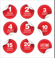 Guarantee stickers modern design collection 3 vector image