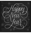 Happy New Year greetings chalkboard vector image