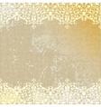 vintage linen canvas burlap floral background vector image