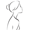 Line drawing of women profile vector image vector image