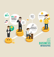 Business stock market board game flat line icons vector image vector image