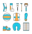 Orthopedic set of items for the medical vector image vector image