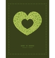 abstract green natural texture heart symbol vector image