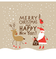 Christmas card with handwritten text vector image