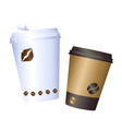 coffee cup paper coffee cup icon isolated on vector image