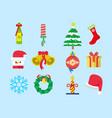 cute christmas set pack vector image