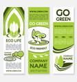 eco business banner template for ecology design vector image