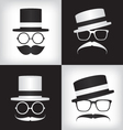 Hipster and gentleman vector image