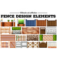 Many fence design elements vector image