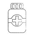 medical bottle medicine pharmacy symbol vector image