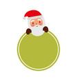 merry christmas santa claus badge decoration vector image