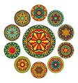 Set Of Round Ethnic Patterns vector image
