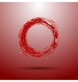 Red liquid Circle of Blood Drops of blood vector image