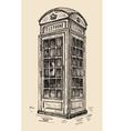 phone box in London vector image