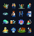 substance use images set vector image vector image
