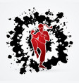 kung fu fighting drunk action graphic vector image