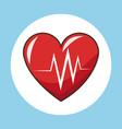heartbeat pulse sport symbol vector image